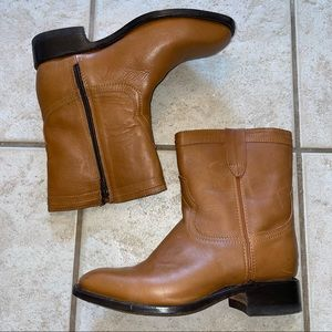 Potro Savaje Men's Round Toe Zip Up Short Boots